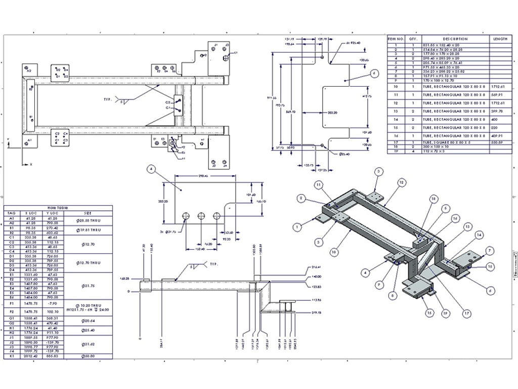 fabrication drawings