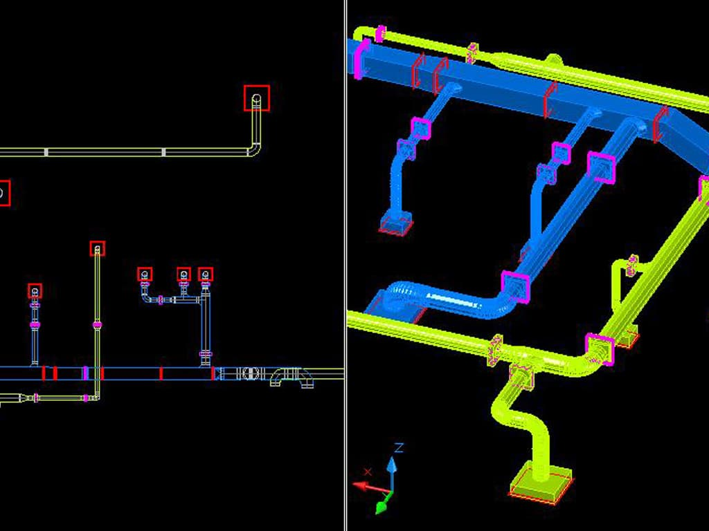 2d Mechanical Hvac Drafting Services In India Microdra Design Cad Drawing 002 1024x768